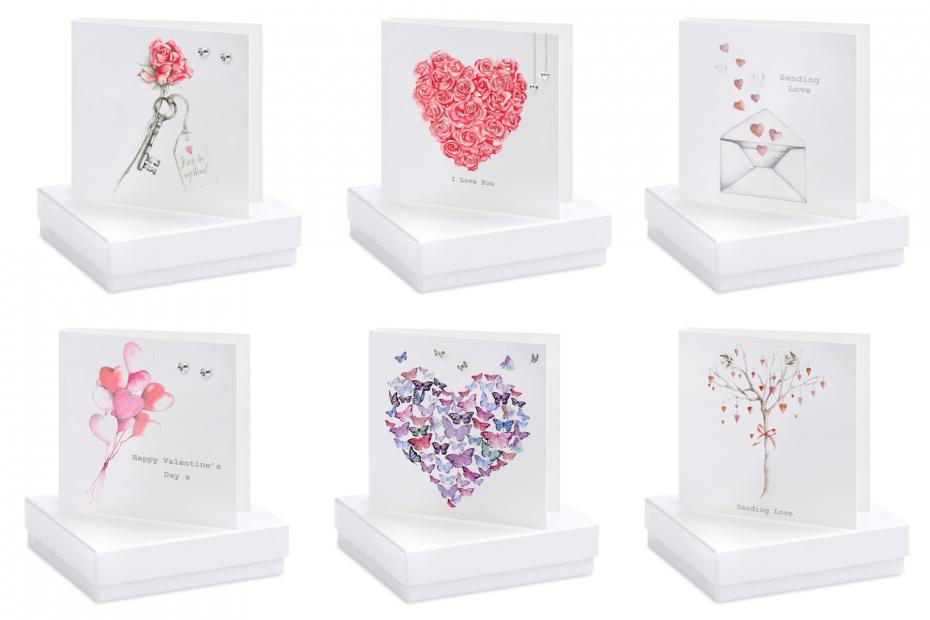 Love Sterling Silver Earring Jewellery Card & Gift Box Collection