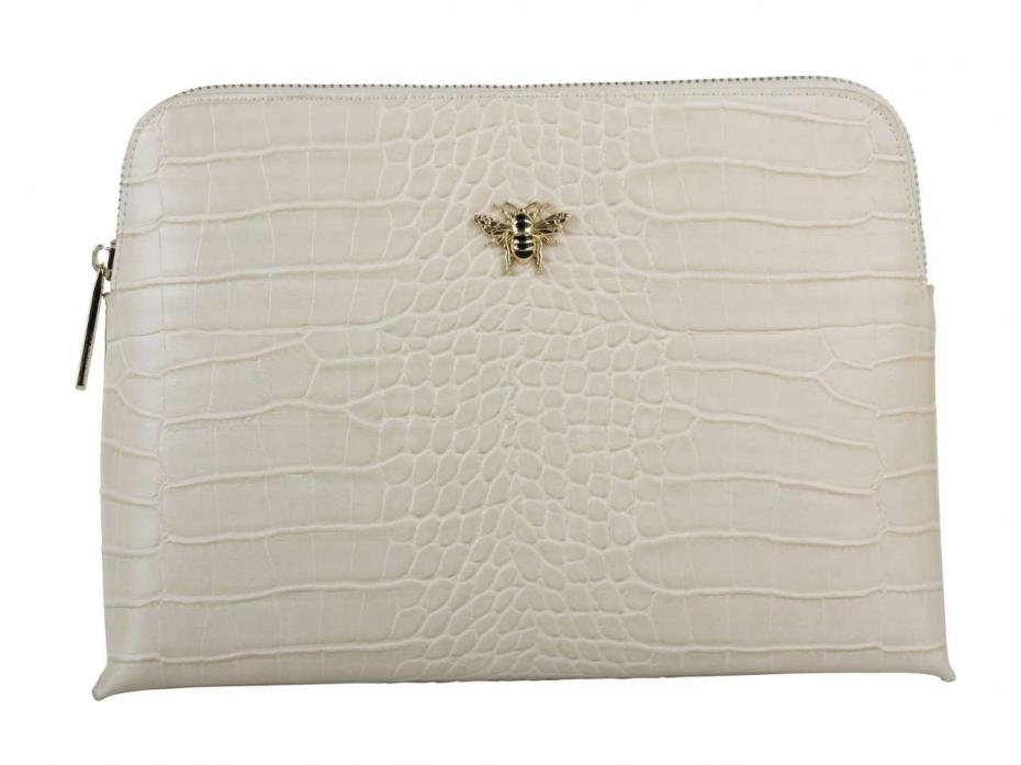 Alice Wheeler London Luxury cream croc collection