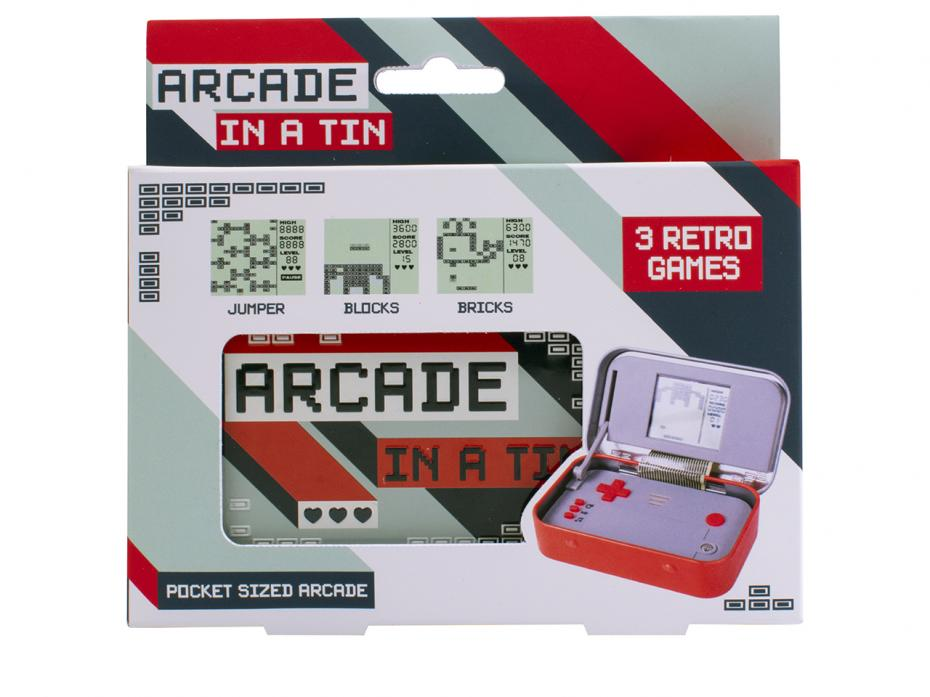 Arcade in a Tin Packaging