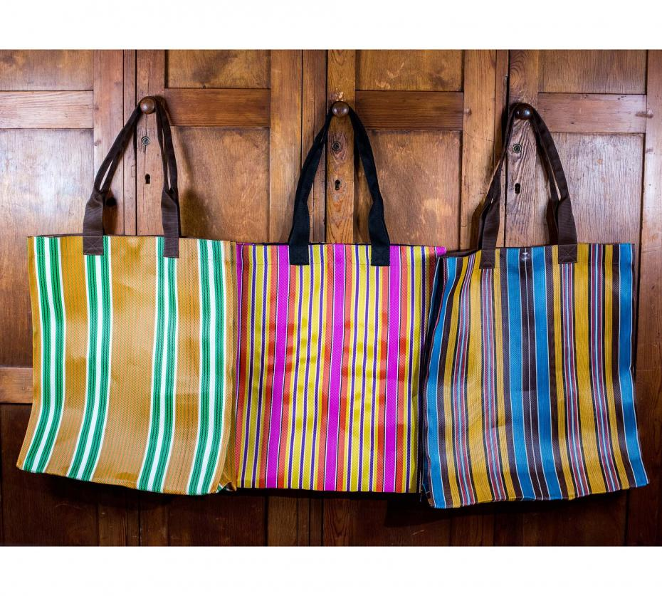 Eco Farmers Market Striped Shopper